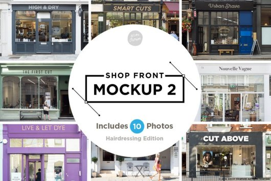 Shop Facade Sign Mockups