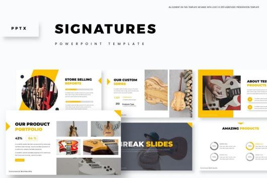 Signatures - Creative Business Powerpoint Template