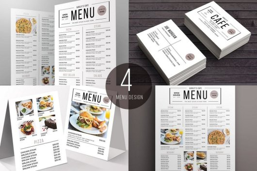 Simple Food and Drink Menu Templates Pack