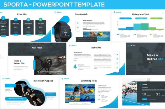 Sporta - Technology Powerpoint Template