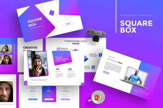 SquareBox - Modern Powerpoint Template