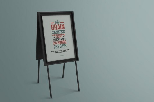 Standing Poster & Flyer Mockup Template