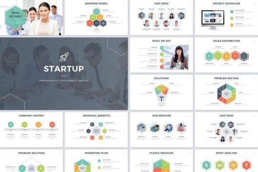 Startup Pitch Deck Keynote Template