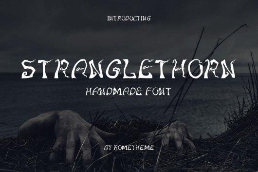 Stranglethorn - Spooky Halloween Font