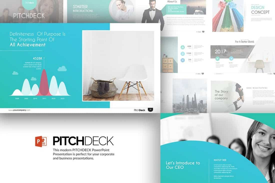 Stylish - Startup Pitch Deck Template For PowerPoint