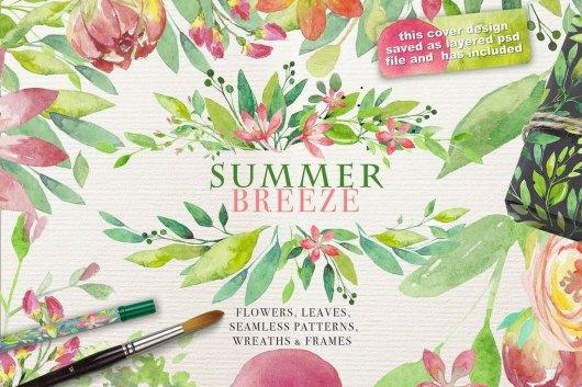 Summer Breeze - Floral Patterns & Vectors
