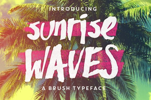Sunrise Waves - Poster Font