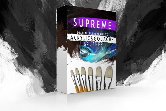Supreme Acrylic & Gouache Photoshop Brushes