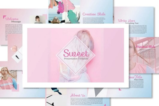 Sweet - Cool Powerpoint Template