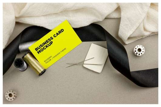 Tailor & Fashion Business Cards Mockup