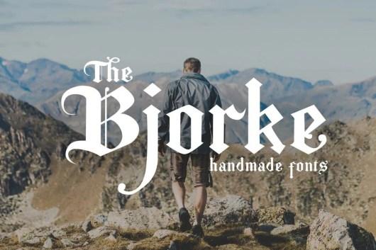 The Bjorke - Handmade Fonts