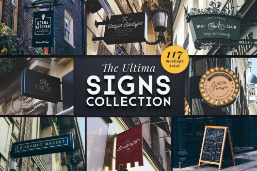The Ultima Shop Sign Mockups Collection