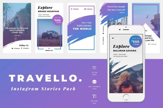 Travel Instagram Story Templates