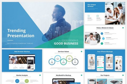 Trending - Cool PowerPoint Template