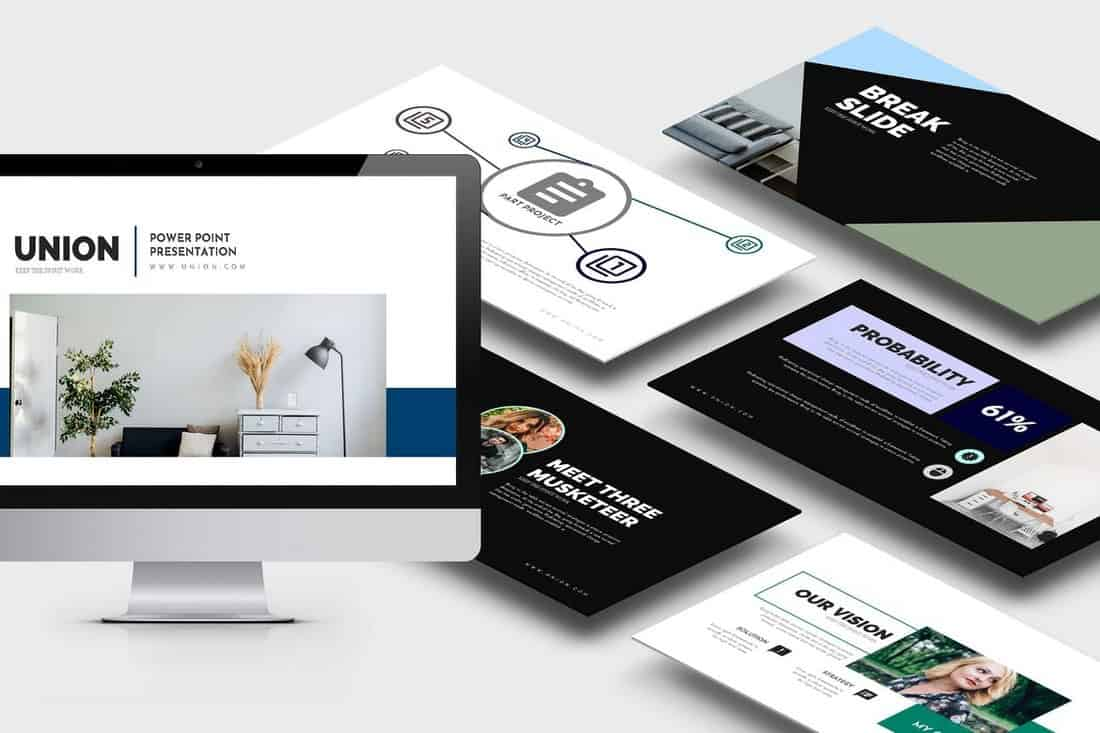Union - Startup Pitch Deck Template For PowerPoint