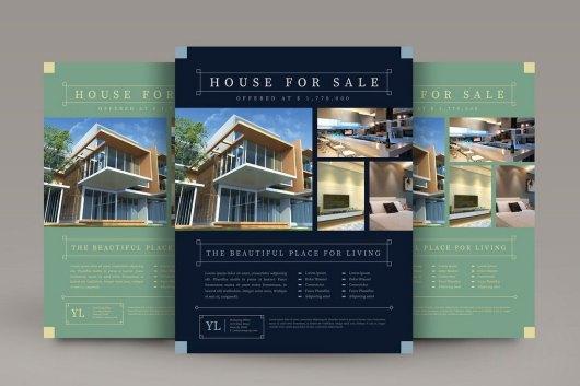 Vintage Real Estate Flyer Template