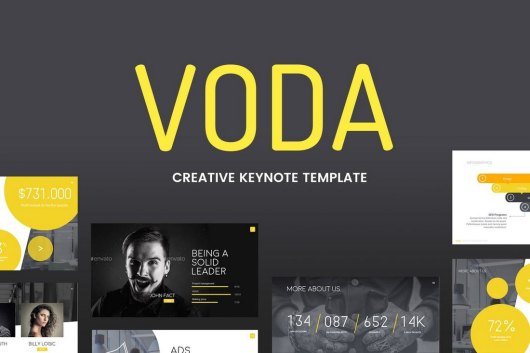 Voda - Animated Keynote Template