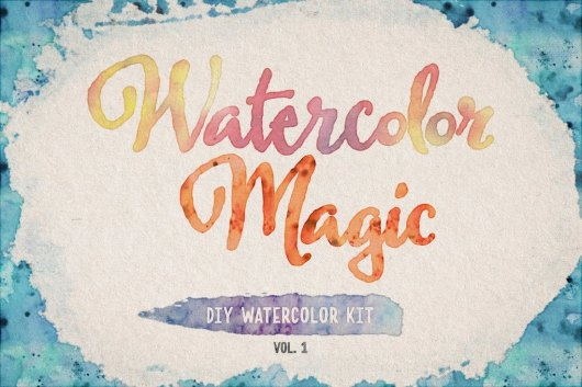 Watercolor Magic Vol.1 - Photoshop Brushes