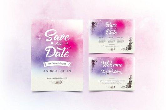 Watercolor Wedding Invitation 1