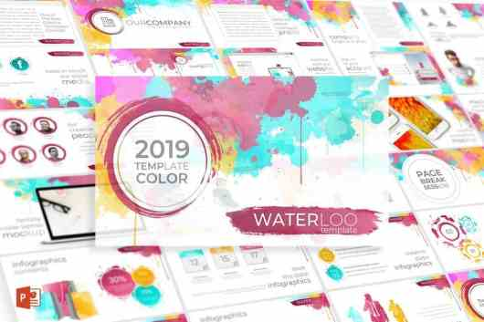Waterloo - Colorful Powerpoint Template