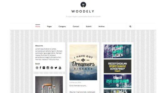 Woodely-Free-Tumblr-Theme