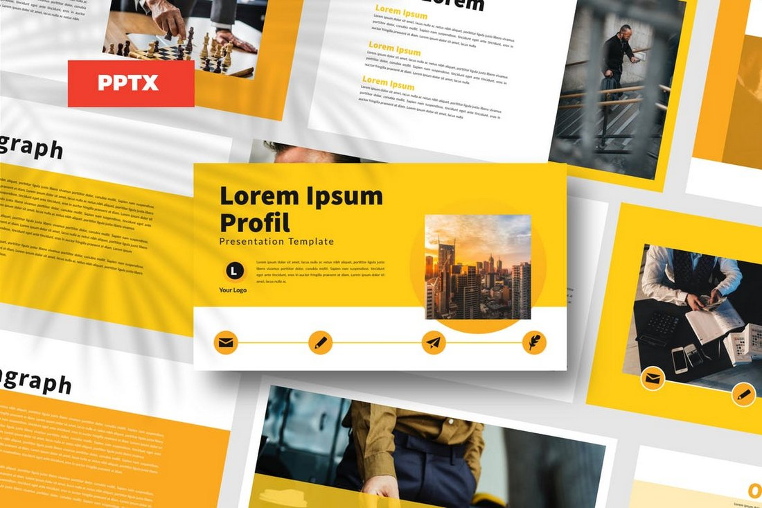 Yellow Bussiness - Powerpoint Template