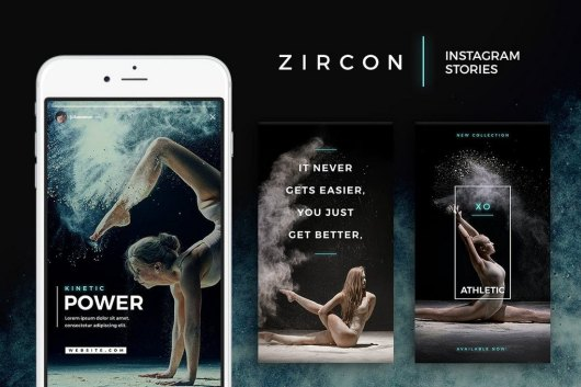 Zircon - Unique Instagram Story Templates