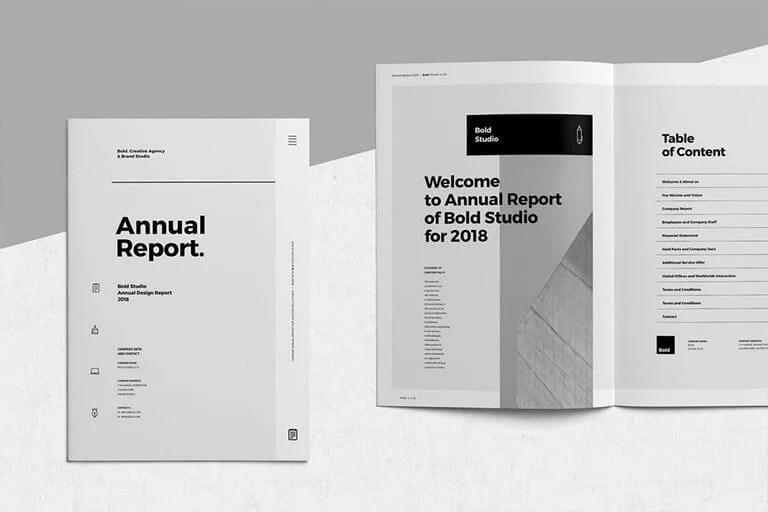 30 Annual Report Templates Word Indesign 2020 Design