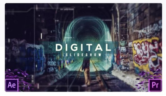 digital slideshow premiere pro template