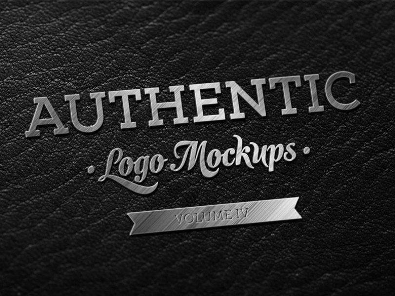 freebie___dark_leather_metallic_finish_logo_mockup_by_ibrc-d865u34