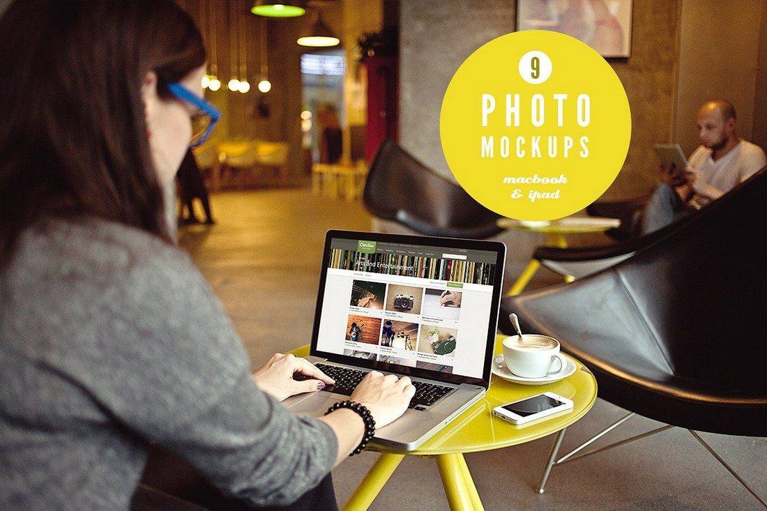 100+ MacBook PSD & Vector Mockups 42