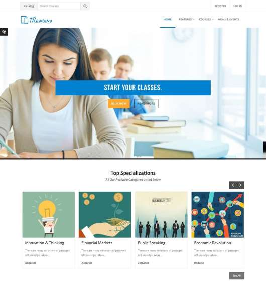 trending-moodle-theme