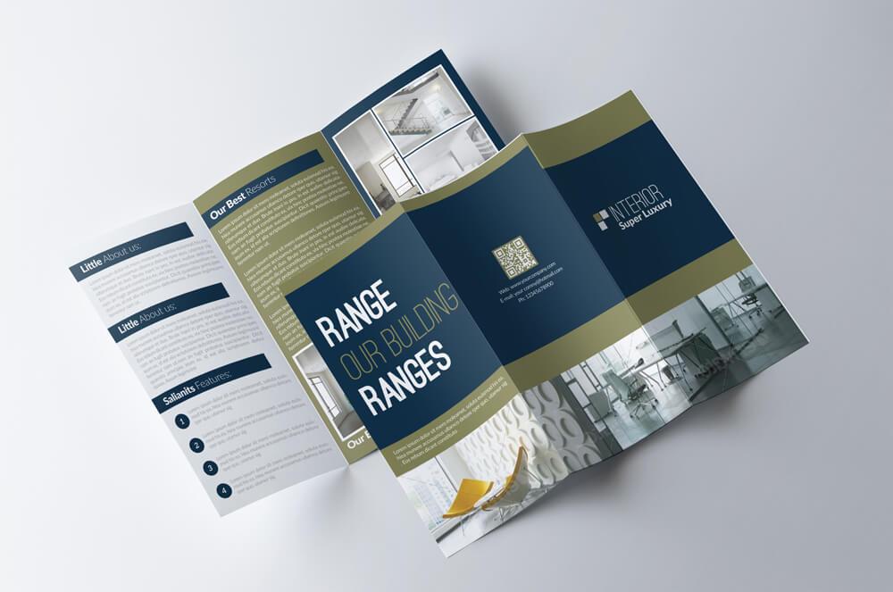 trifold3 o - 70+ Modern Corporate Brochure Templates