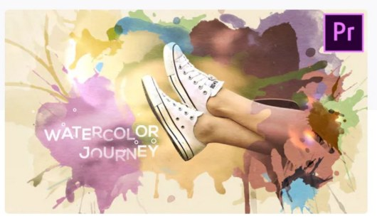 watercolor journey premiere pro template