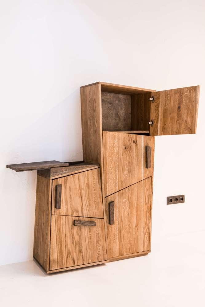 Доски She Шкаф геометрический из массива дерева 70000 руб