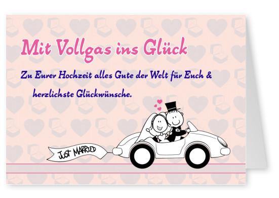 Fototapete Cartoon Hochzeit Auto Pixers Wir Leben Um Zu