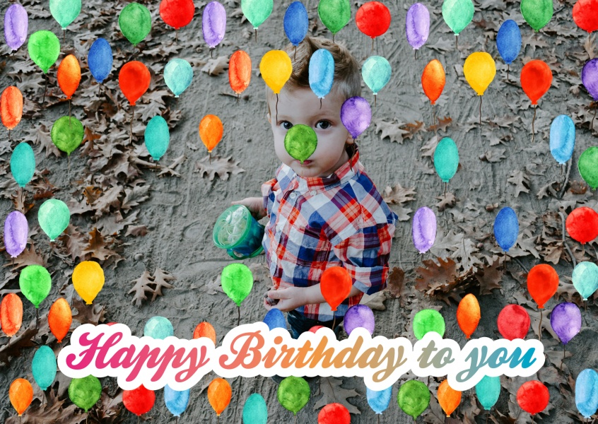 Create Your Own Photo Birthday Cards Online Free Printable Templates Use Your Own Photo Printed Mailed For You International Make Your Own