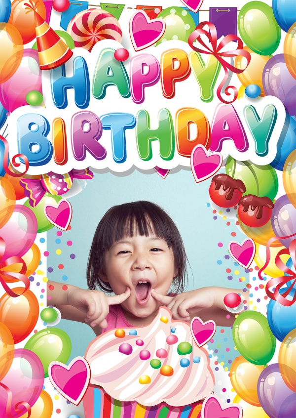 Free Printable Photo Happy Birthday Cards Online Customized Photo Cards Printed Mailed For You International Online Or With Our Free Postcard