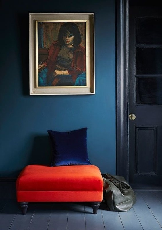 colour inspiration; blue and orange