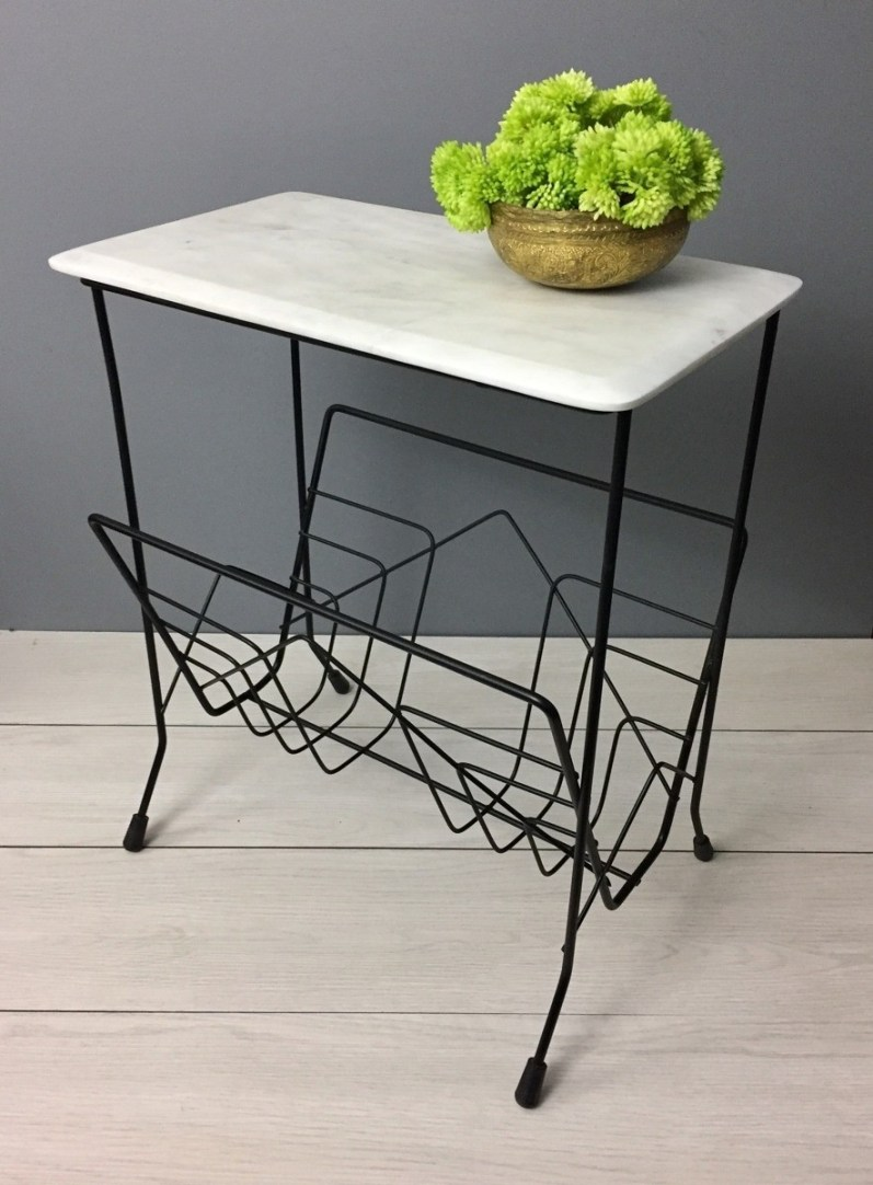 magazine table makeover
