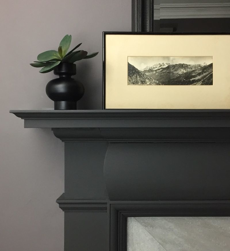 Before the bedroom reveal… Fireplace makeover.