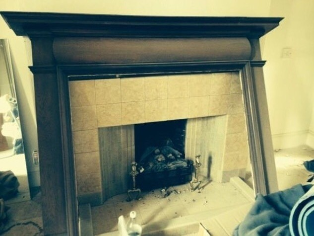 Fireplace makeover; the gumtree surround