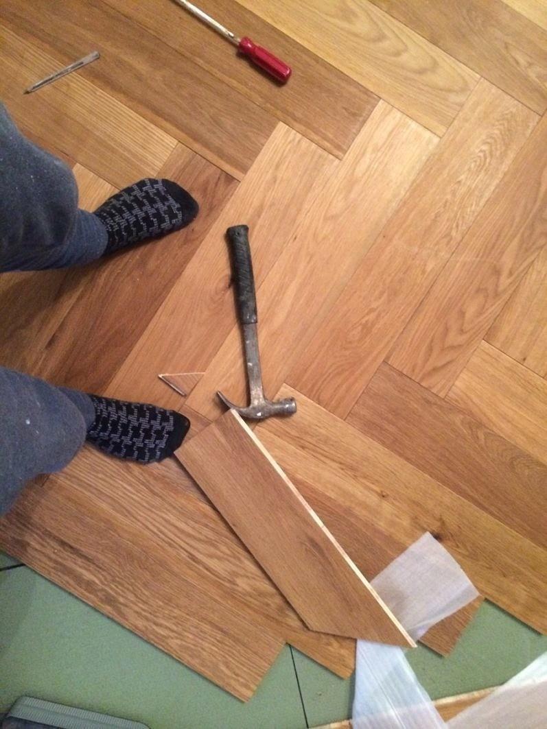 New herring bone floor