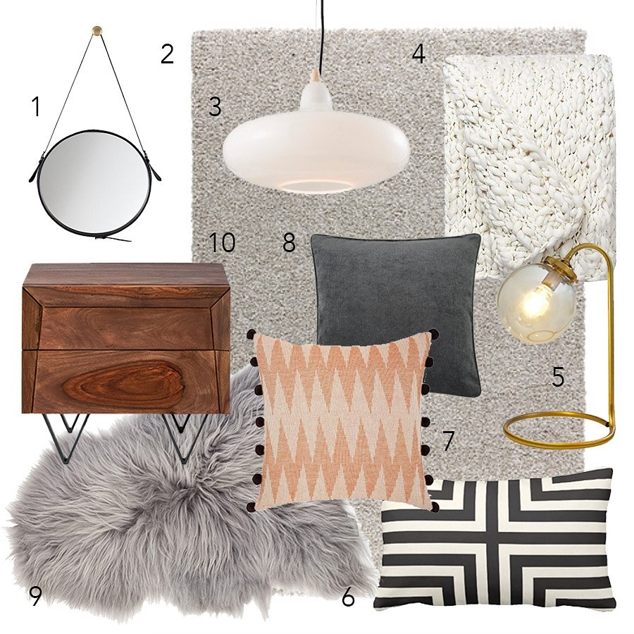 Bedroom Furniture And Accessories Moodboard