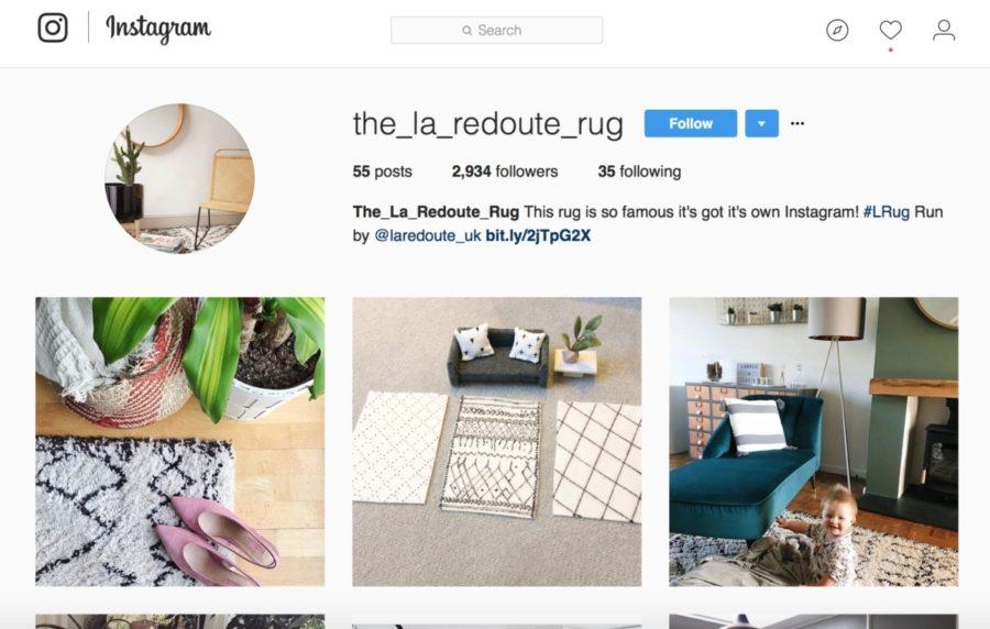 La redoute rug Instagram