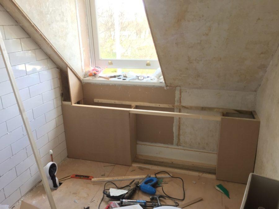 Bathroom Renovation; woodwork