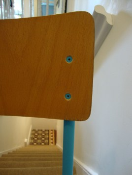 D.I.Y Colour Pop Chairs - Bright Blue Plywood School Chair