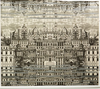 Piero Fornasetti Riflesso Cole & Son Cityscape Wallpaper
