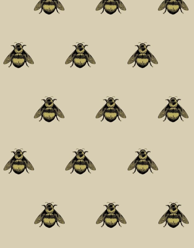 Timorous Beasties Napoleon Bee Wallpaper entomology