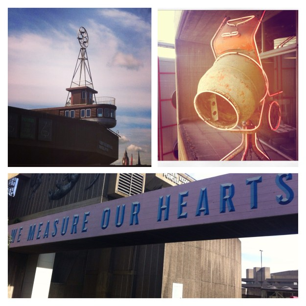 London Southbank Room For London Hotel Conctete Mixer Neon Haywood Measure Our Hearts Mural